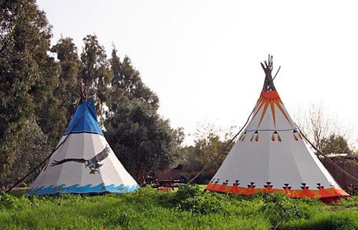 הכפר האינדיאני - לינת שטח