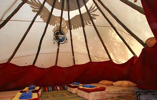 הכפר האינדיאני רמת הגולן - אוהלים אינדיאנים
