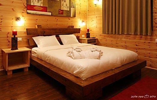 שילובים בטבע - מיטה זוגית