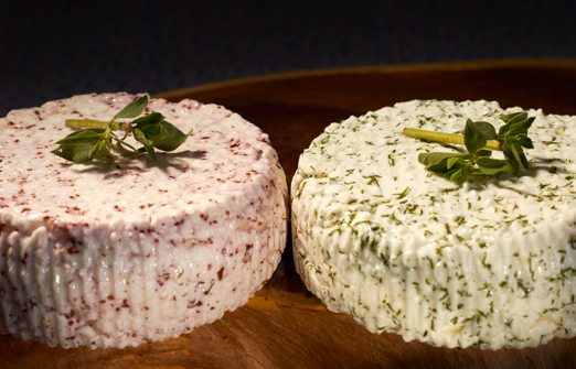מחלבת צאלה - שני סוגי גבינות