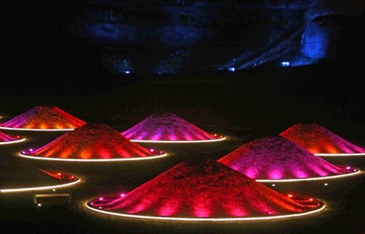 הפארק הוולקני - חזיון אורות לילי