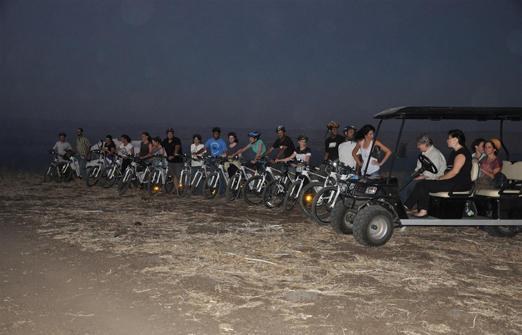 פייס-בייק טיולי אופניים- שעת שקיעה
