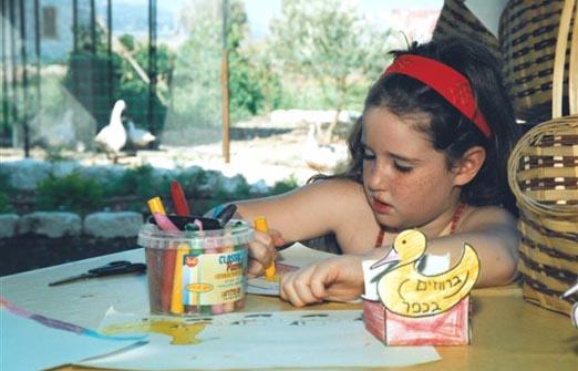 ברווזים בכפר - ילדים בפינת היצירה