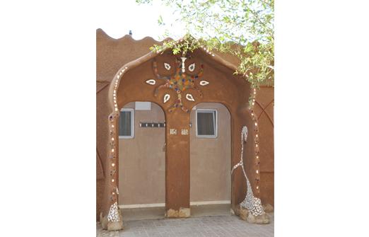 צימרים בקיבוץ לוטן- דלת כניסה